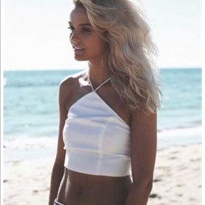 Sabo Skirt White Crop top